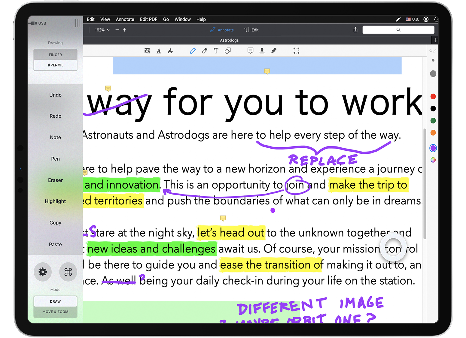 how to organize a pdf expert workspace for astropad astropad